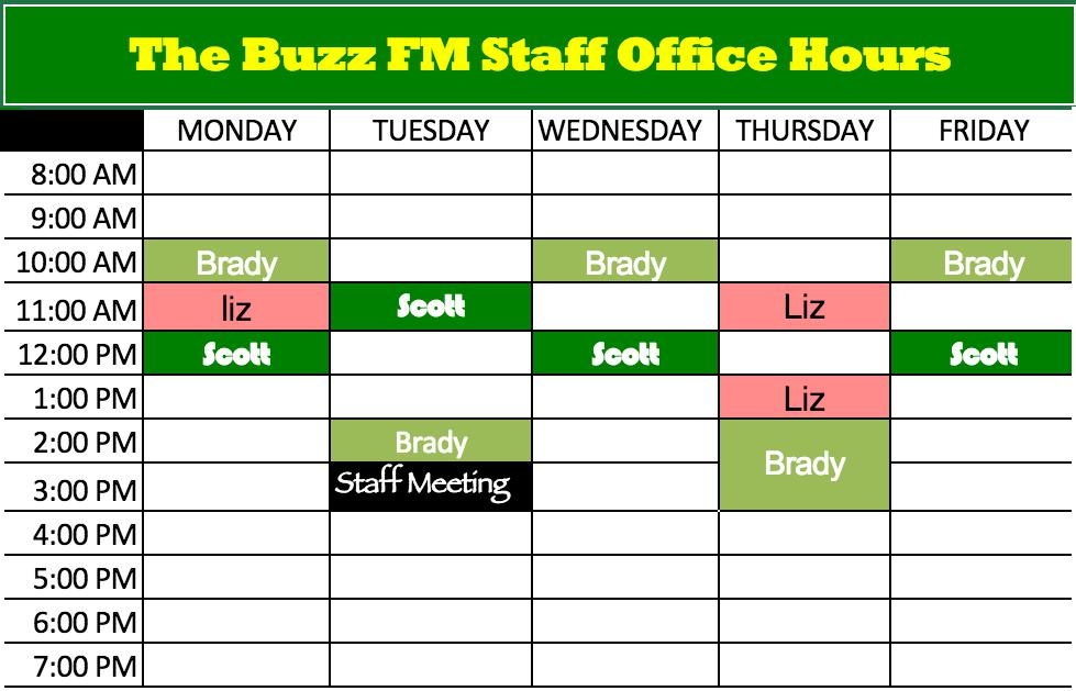 Radio Staff Hours