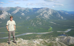 Scientist studies lichens in Denali National Park