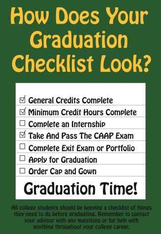 How Does Your Graduation Checklist Look?