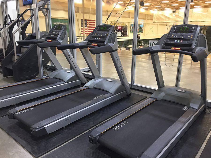 New+treadmills+ready+for+student+use+in+the+Donald+E.+Young+Center.