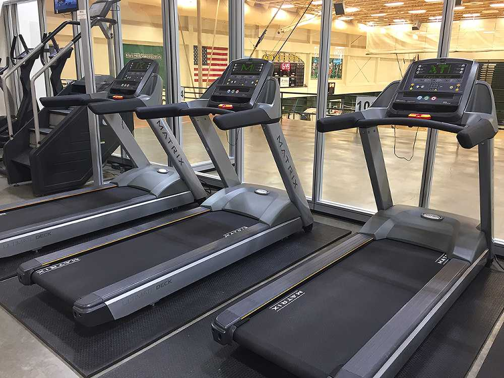 New treadmills ready for student use in the Donald E. Young Center.