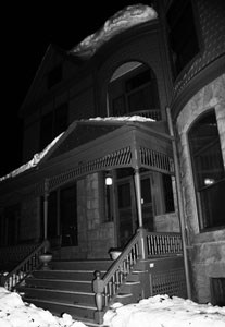 The Historic Adams house hosts Spirited Tours in October.
