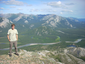 Dr. Peter Nelson studies lichens in Denali National Park.