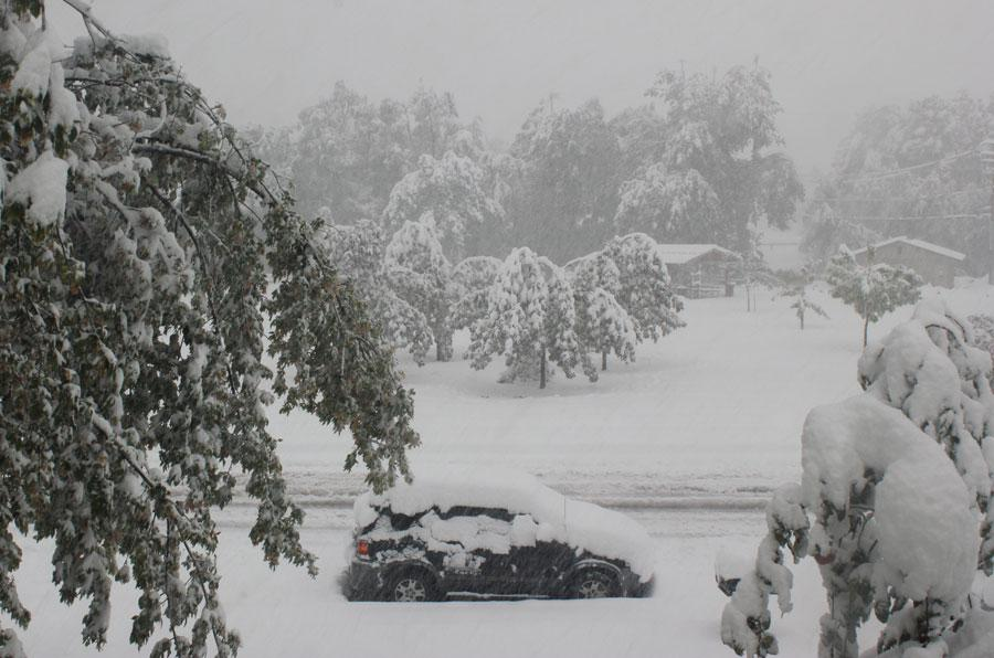 Blizzard blankets Spearfish on Oct. 4.