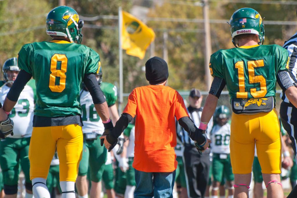 BHSU grant wish at football game