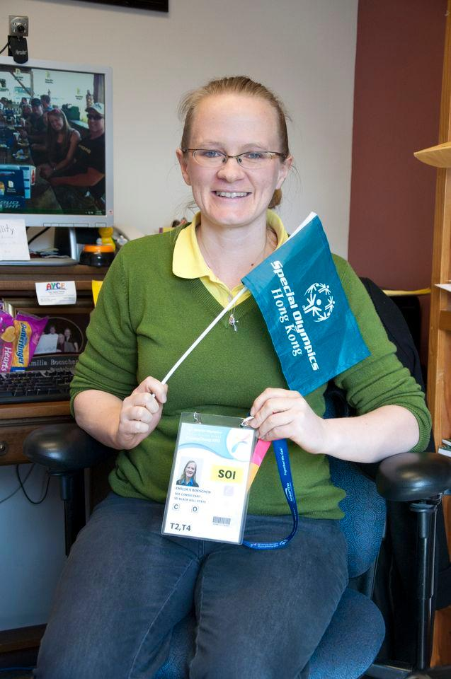 Dr. Emilia Boeschen a Black Hills State University instructor and her research group attends the Special Olympics held in Pyeong Chang, South Korea on January 29 to February 5.