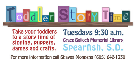 Take your toddlers to a story time of singing, puppets, games and crafts.