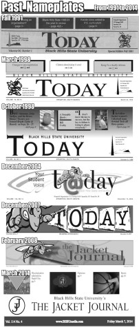 The mastheads from previous years of the student newspaper.