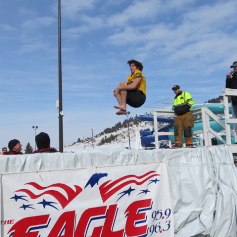Damon Goldhammer participates in the Polar Plunge on Feb. 23.
