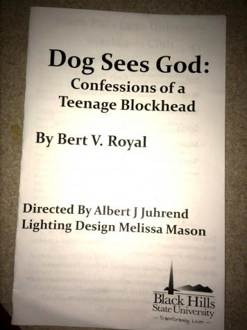 """The Black Hills State University theater department perform, """"Dog Sees God: Confessions of a Teenage Blockhead"""" in the Blackbox Theater in Pangburn hall Feb. 19-21."""