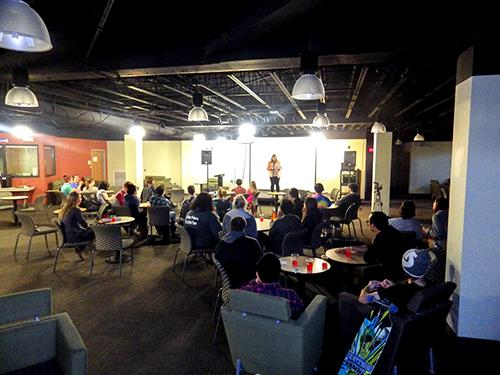 Black Hills State University writing center hosted open mic night in Club Buzz March 19