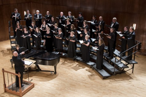 The Northern Hills Chamber Chorale performs at the Fall Choral Concert at the Clare and Josef Meier Recital Hall Oct. 18.