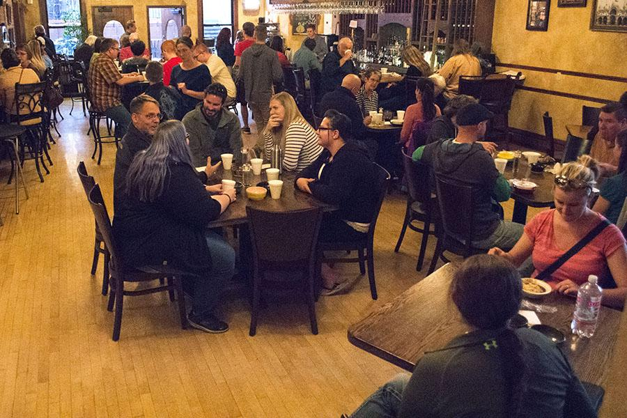 Guests enjoyed endless bowls of soup at the Empty Bowls event Oct. 14 at the Deadwood Social Club. The event raised money for Lord's Cupboard in Lead-Deadwood and the Spearfish Food Pantry.