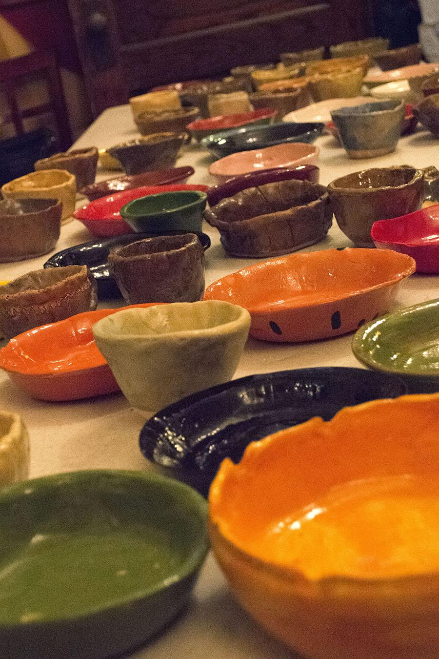 Students from Black Hills State University Art Department and Spearfish High School donated handmade bowls for the Empty Bowls fundraising event held at the Deadwood Social Club Oct. 14.