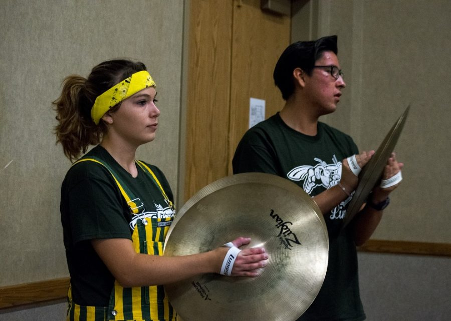 Black Hills State University students Sarah Rathert and Cheyenne Black play for United Way event at Spearfish Convention Center Sept. 15.