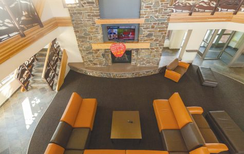"""Lookout Lounge"" is a popular hangout for Crow Peak Hall residents."