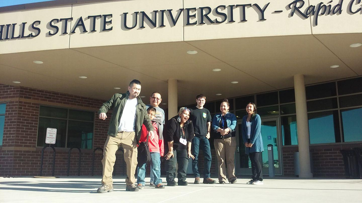 Members of He'Sapa Oyate take a break from their weekly meeting held at Black Hills State University – Rapid City on March 3.