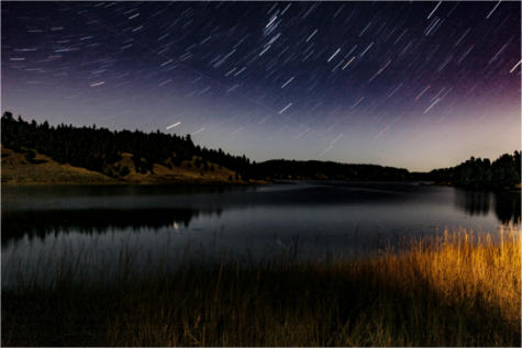 Night Photograph of Deerfield Lake