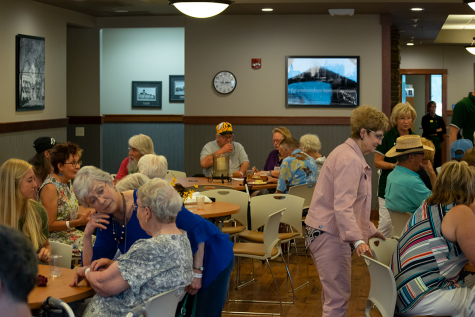 Caterers and Joy Center staff oversee the breakfast reception. The 2019 All-School Reunion was organized by the BHSU Alumni Association.