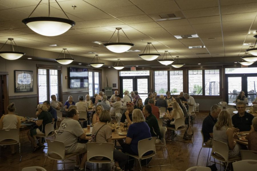 Alumni gather on campus at the Joy Center to reconnect as part of the 2019 All-School Reunion. Two breakfast receptions for alumni were held on Friday, June 28, and Saturday, June 29, 2019.