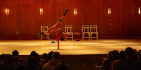 The ZUZU African Acrobats kept the small crowd at Black Hills State University students, staff, and families in awe with their performances that consisted of epic dance movies, balancing on chairs, and even a body pyramid in Spearfish, SD Friday, February 21st, 2020.